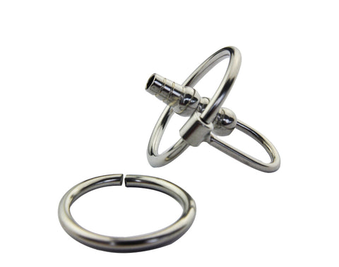 Stainless Steel Cum through Penis plugs with rings