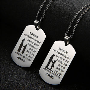 Stainless Steel Engraved Necklaces