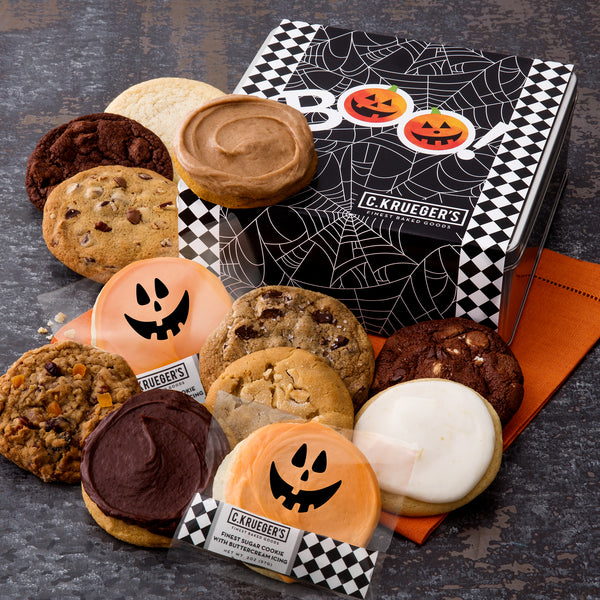 BOO Spider Web Gift Tin - Halloween Assortment