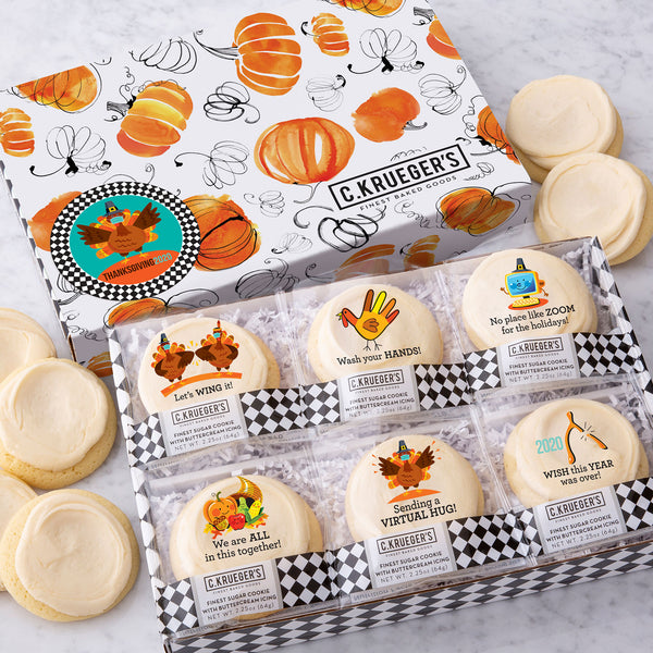Thanksgiving 2020 Slide Box Cookie Messages - Iced