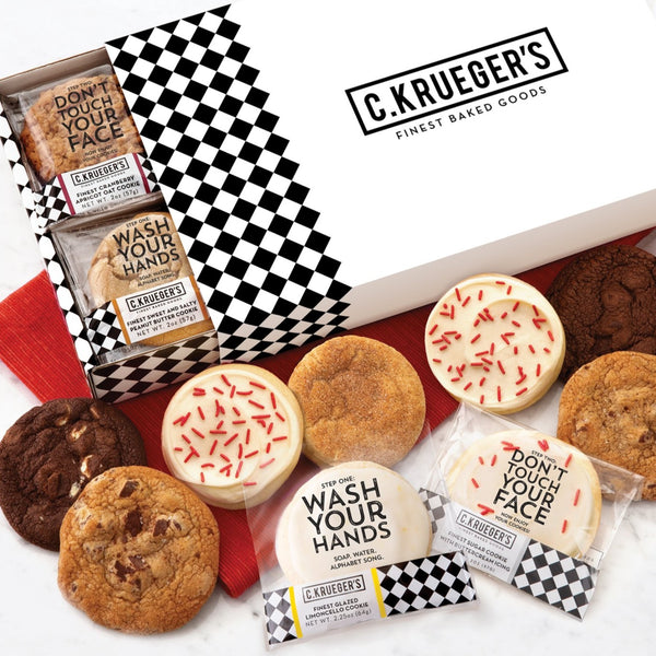 C. Krueger's Slide Assorted Cookie Box - Wash Your Hands...