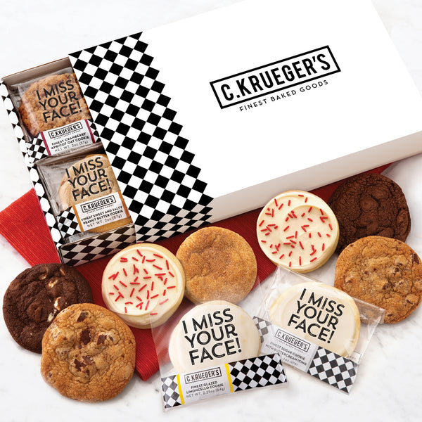 C. Krueger's Slide Assorted Cookie Box - I Miss Your Face