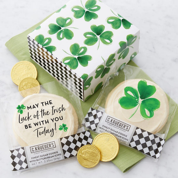Duo Sampler - St. Patrick's Day Cookies & Chocolates