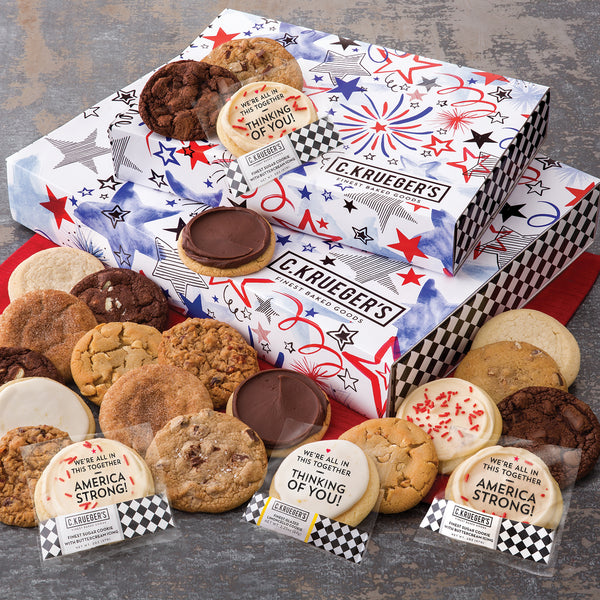 Patriotic Slide Gift Box - Assorted Cookies