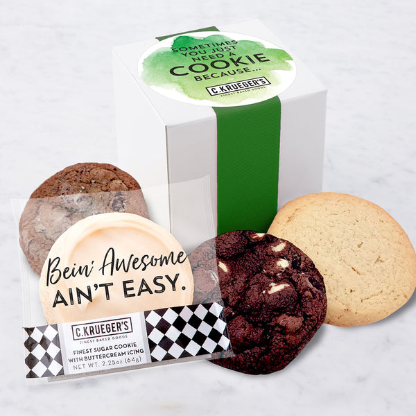 Four Cookie Sampler - Sometimes You Just Need a Cookie Because...Bein' Awesome Ain't Easy