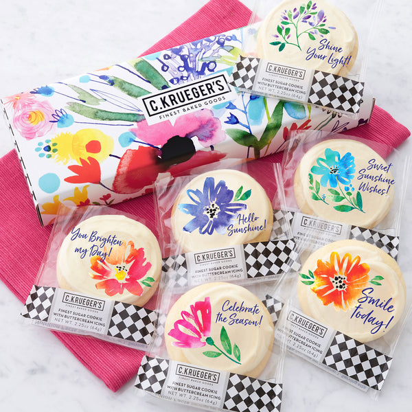 Half Dozen Wildflowers Sampler Box - Iced Messages