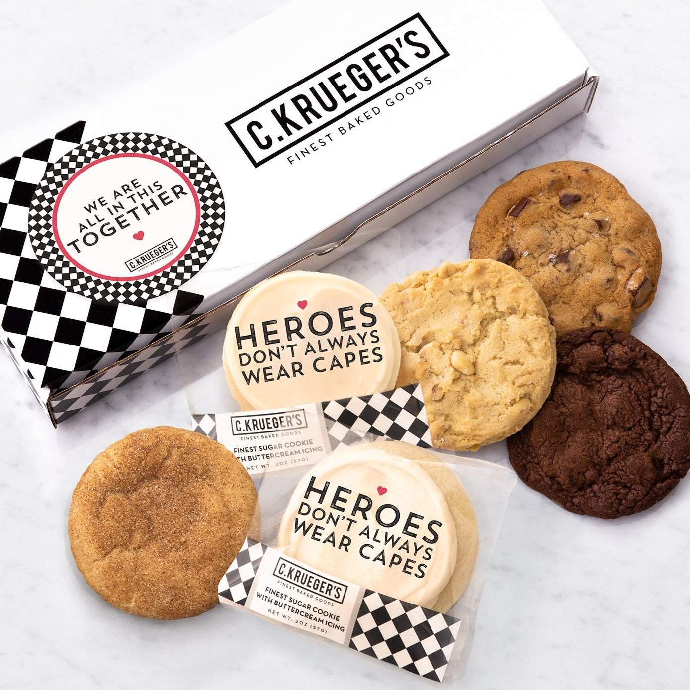 Half Dozen Assorted Sampler Box - Heroes Don't Always Wear Capes