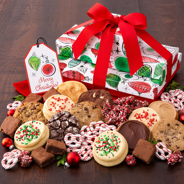 Holiday Ornaments Gift Stack - Cookies & Snacks