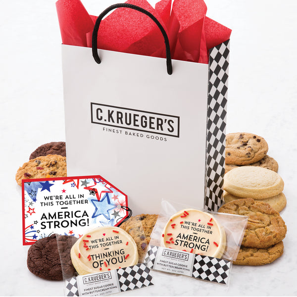 Patriotic Gift Bag - Assorted Cookies