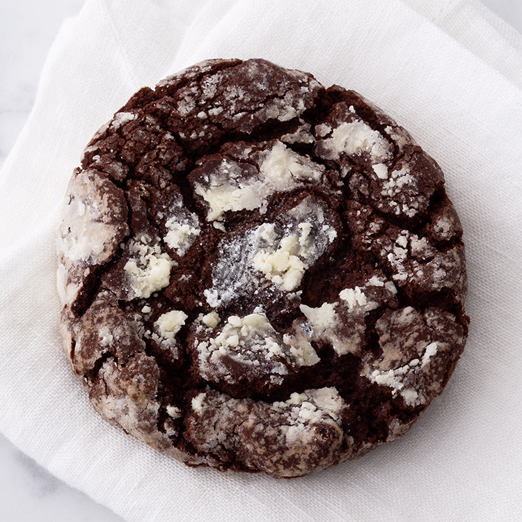 Finest Double Chocolate Crinkle Cookie