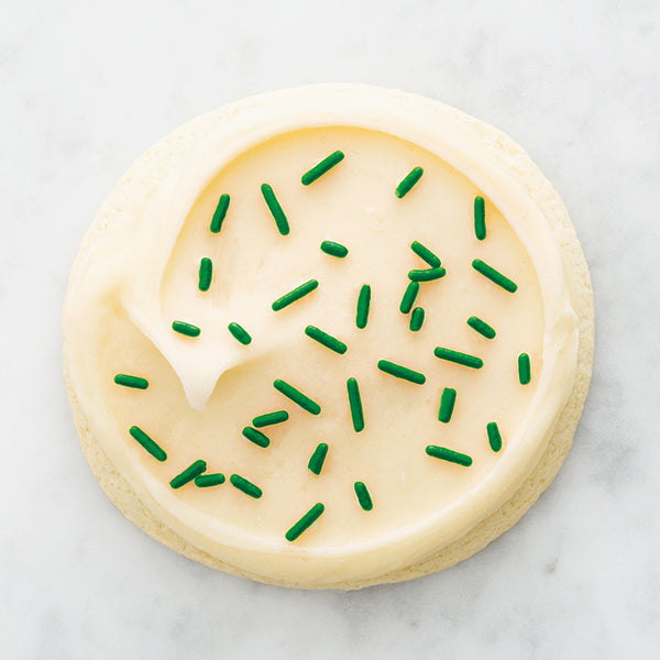 Finest Sugar Cookie with Buttercream Icing & Green Sprinkles