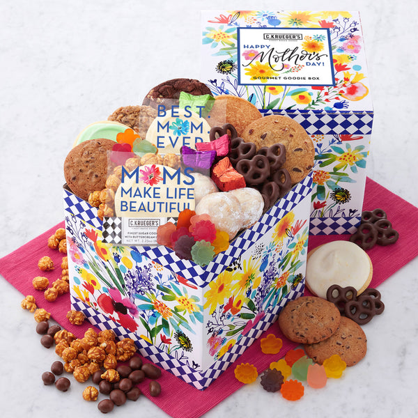 Mother's Day Wildflowers Gourmet Goodie Box