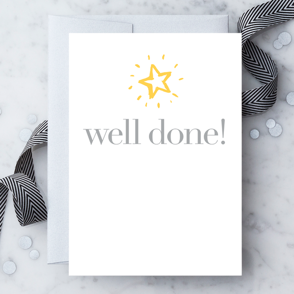 Well Done Greeting Card