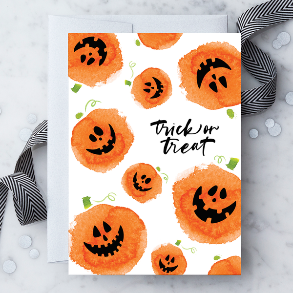 2019 Trick or Treat Pumpkins Greeting Card