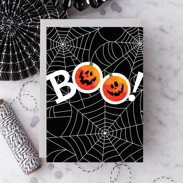 2019 Boo Spiderweb Greeting Card