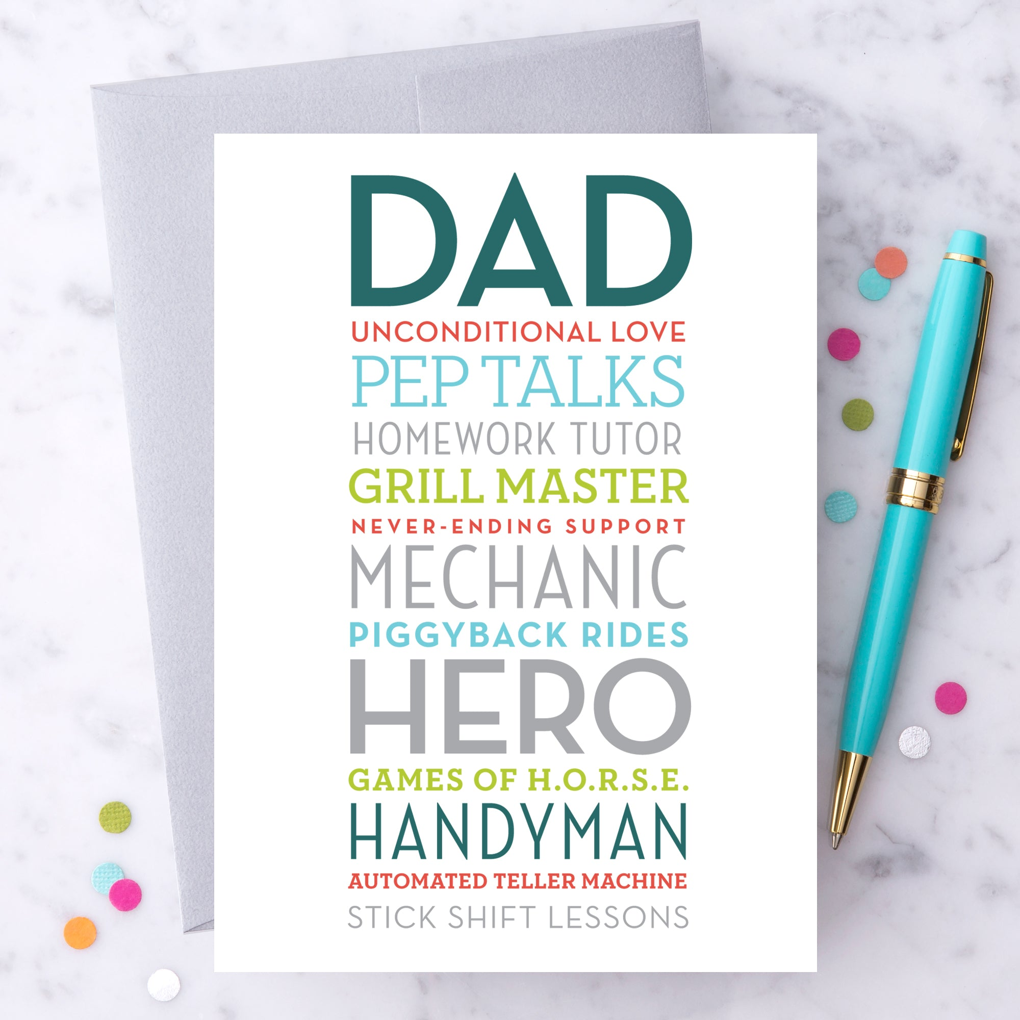 Dad Unconditional Love Greeting Card