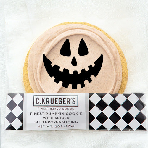 Finest Jack-o-Lantern Pumpkin Cookie with Spiced Buttercream Icing