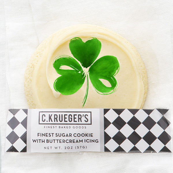 Finest Sugar Cookie with Buttercream Icing & Shamrock Cookie Film