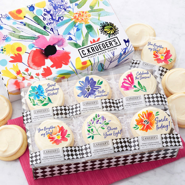Wildflowers Slide Cookie Box - Iced Messages
