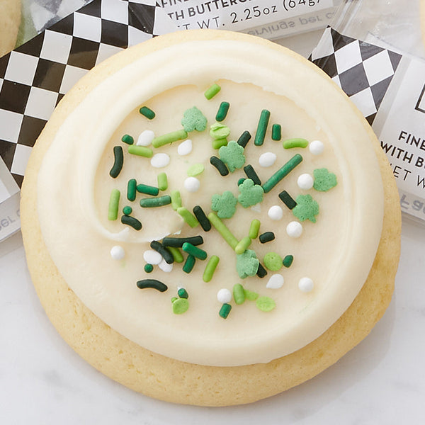 Finest Sugar Cookie with Buttercream Icing & Shamrock Sprinkles