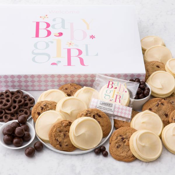 Baby Girl Slide Gift Box - Cookies & Snacks