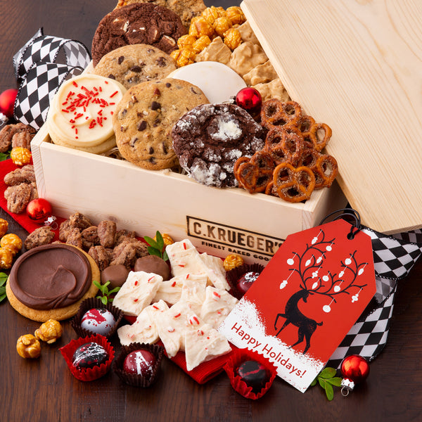 Winter Deer Gift Crate - Cookies & Snacks