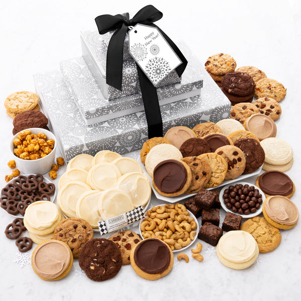 Happy New Year's Snowflake Stack - Cookies & Snacks