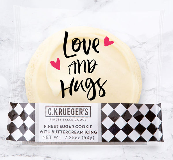 Finest Sugar Cookie with Buttercream Icing & Love and Hugs Message