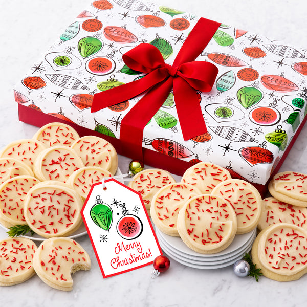 Christmas Ornaments Luxe Cookie Box - Iced