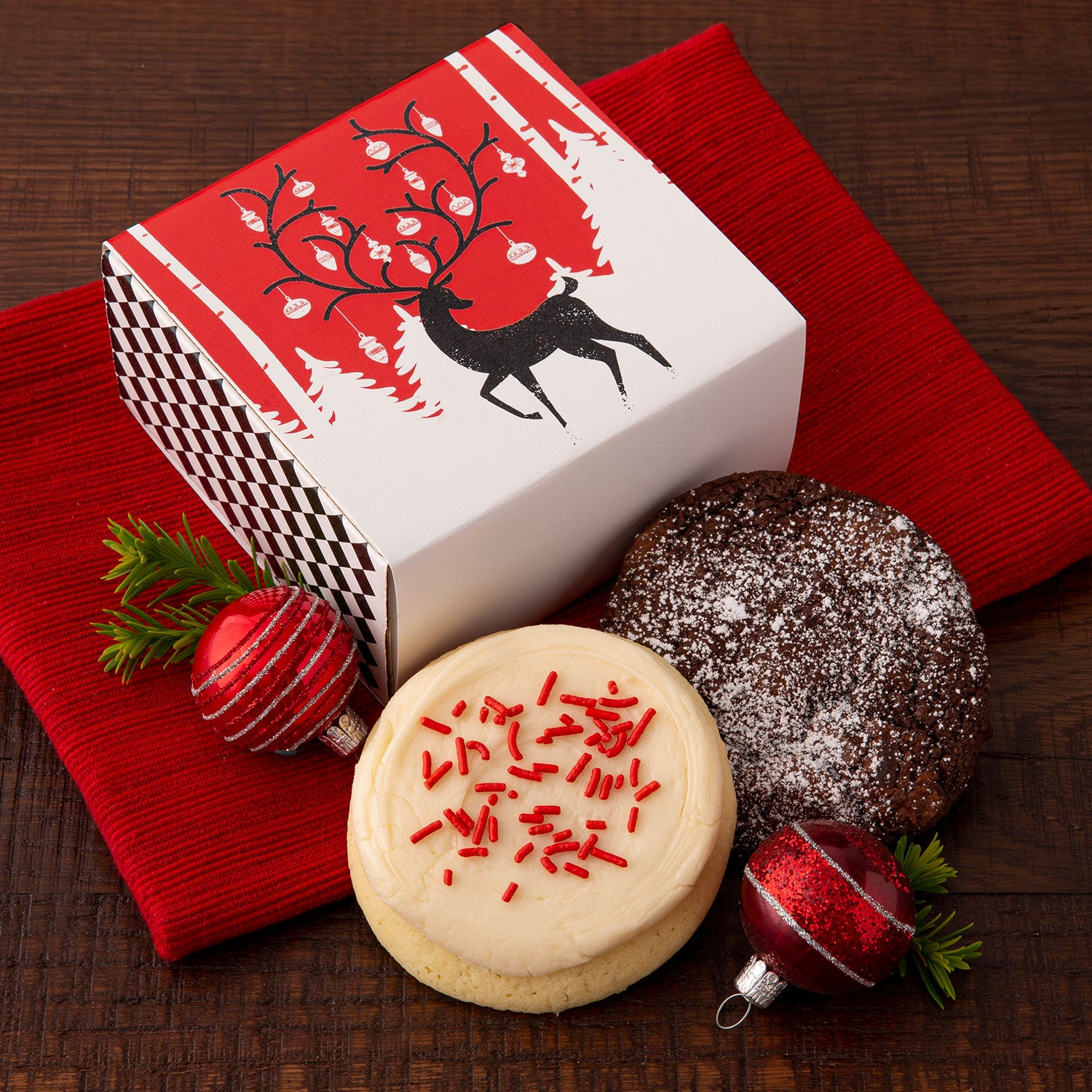 Duo Sampler Winter Deer - Crinkle & Iced