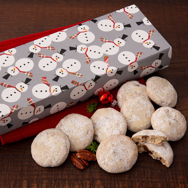 Holiday Snowman Sampler - NEW! Butter Pecan Sandie Cookies