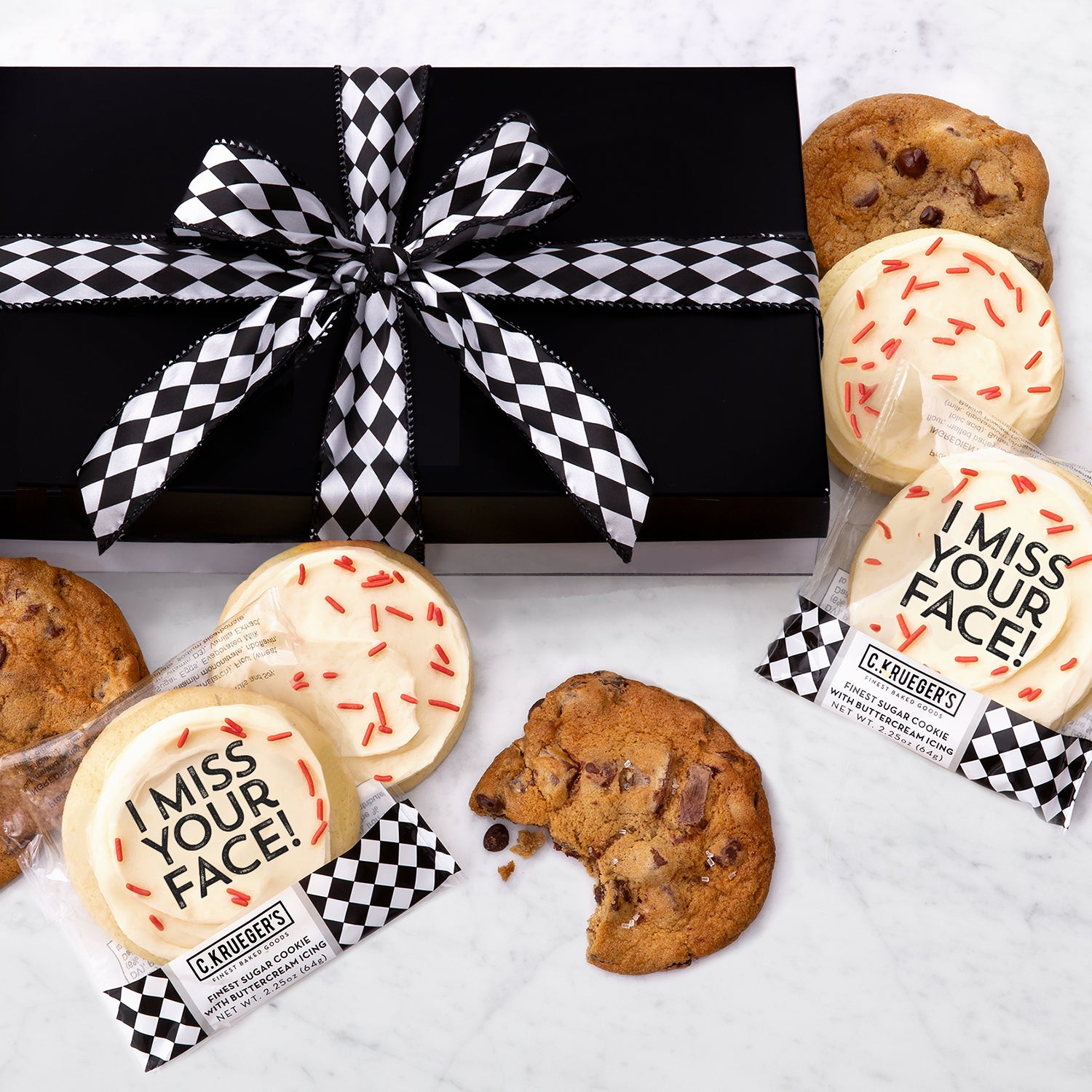 Luxe Gift Box of 36 Cookies - I Miss Your Face
