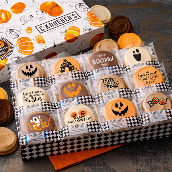 Happy Halloween Pumpkin Slide Box - Buttercream Iced