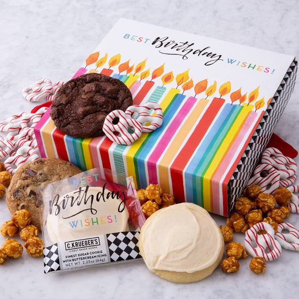 Birthday Cookies & Snacks Sampler Box