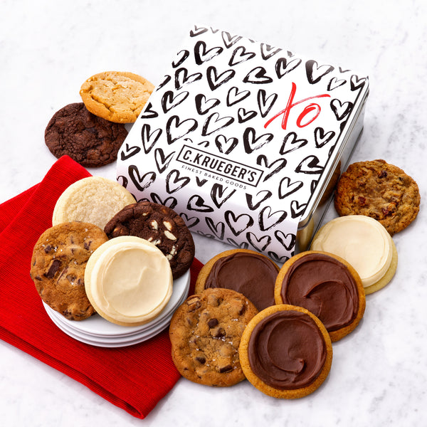 XO Hearts Gift Tin - Select Your Cookies