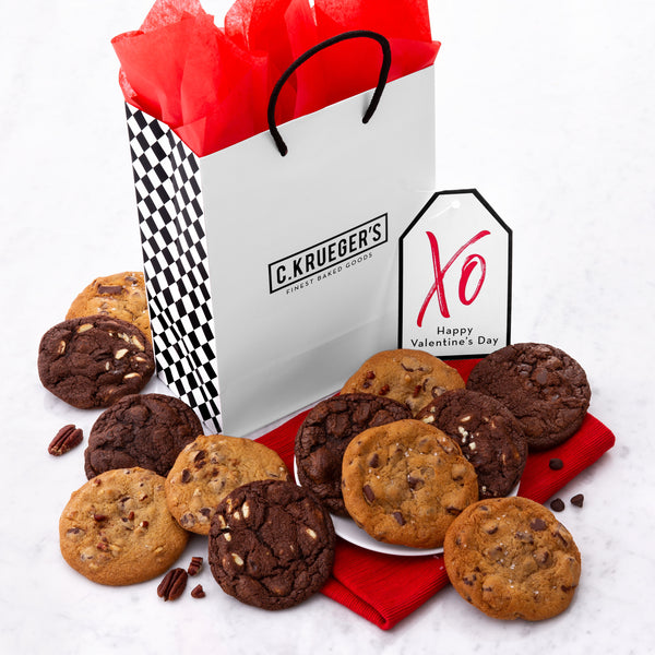 Valentine XO Gift Bag - Belgian Chocolate Assortment