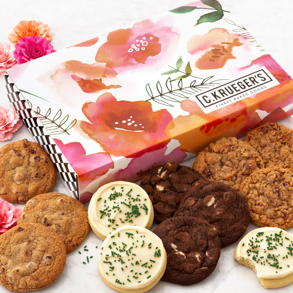 Watercolor Poppies Slide Box - Select Your Cookies