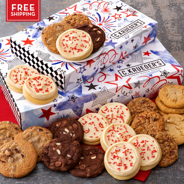 Patriotic Slide Gift Box - Select Your Cookies