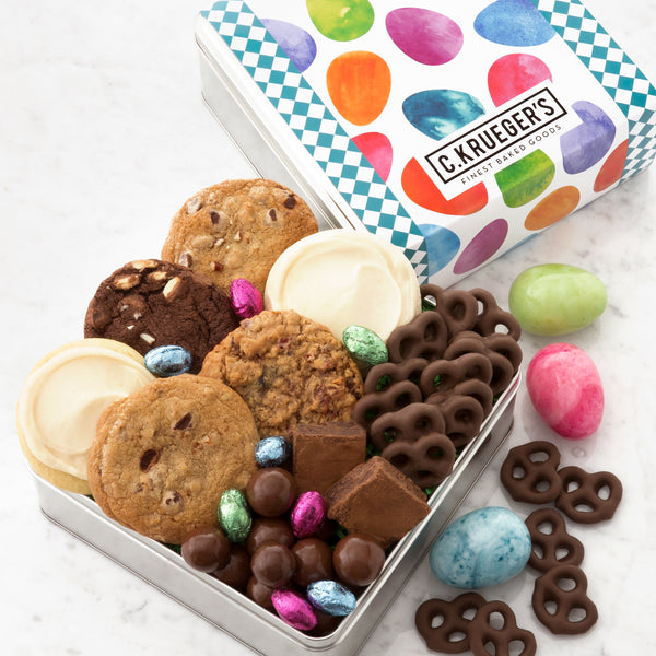 Happy Easter Gift Tin - Cookies & Snacks