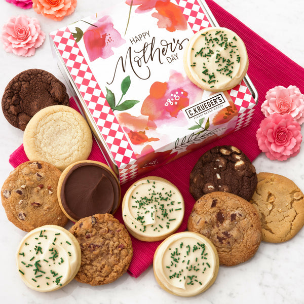 Happy Mother's Day Poppies Gift Tin - Each & Every Cookie