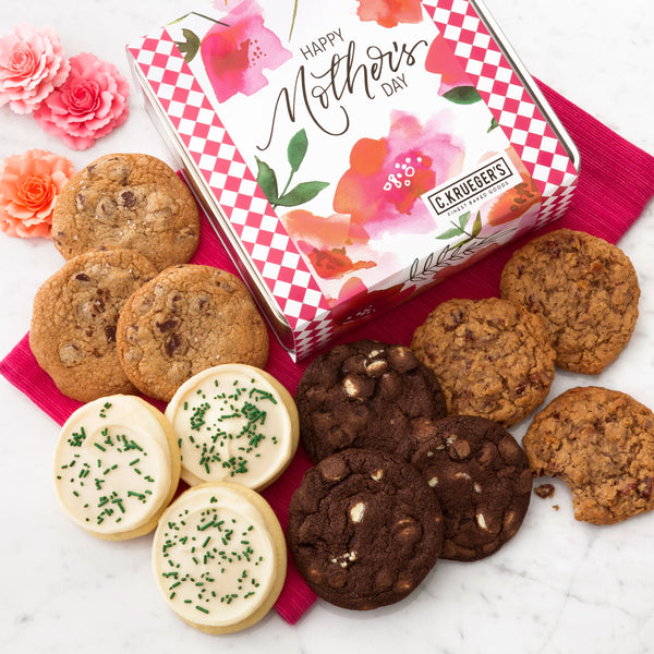 Happy Mother's Day Poppies Gift Tin - Select Your Cookies