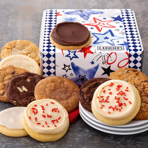 Patriotic Gift Tin - Assorted Cookies