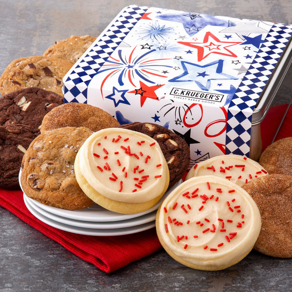 Patriotic Gift Tin - Select Your Cookies