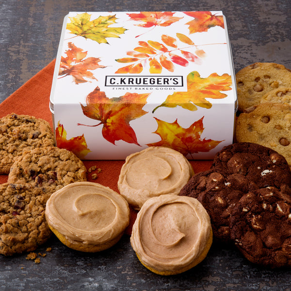 Fall Leaves Gift Tin - Select Your Cookies