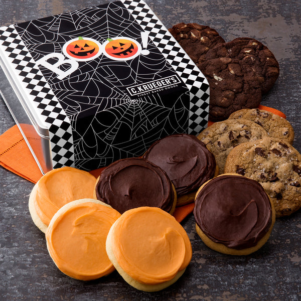 Halloween Spider Web Gift Tin - Select Your Cookies