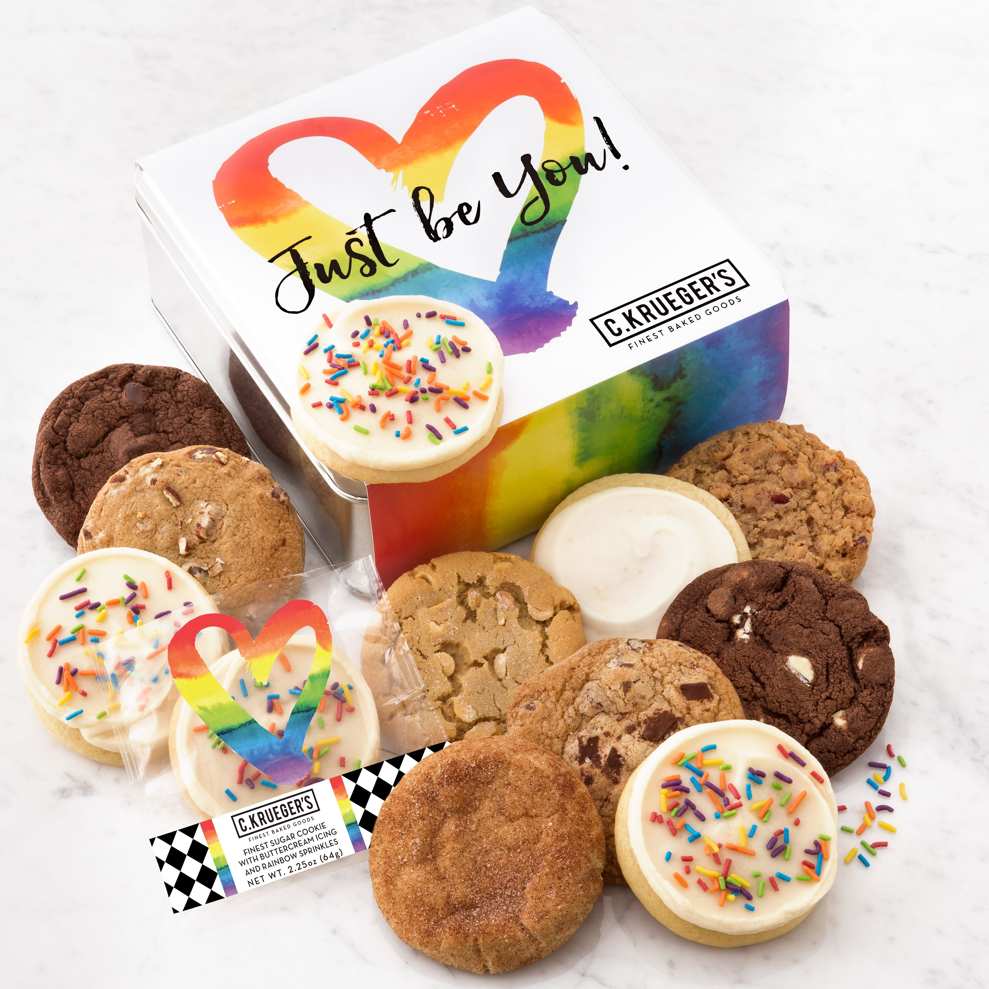 Just Be You Gift Tin - Assorted Cookies