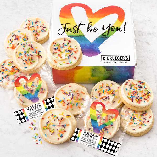 Just Be You Gift Tin - Iced Cookies