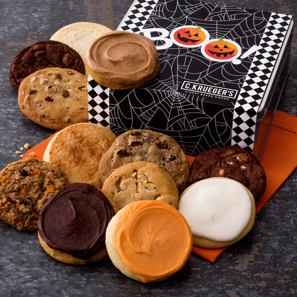 Halloween BOO Spider Web Gift Tin - All Kinds
