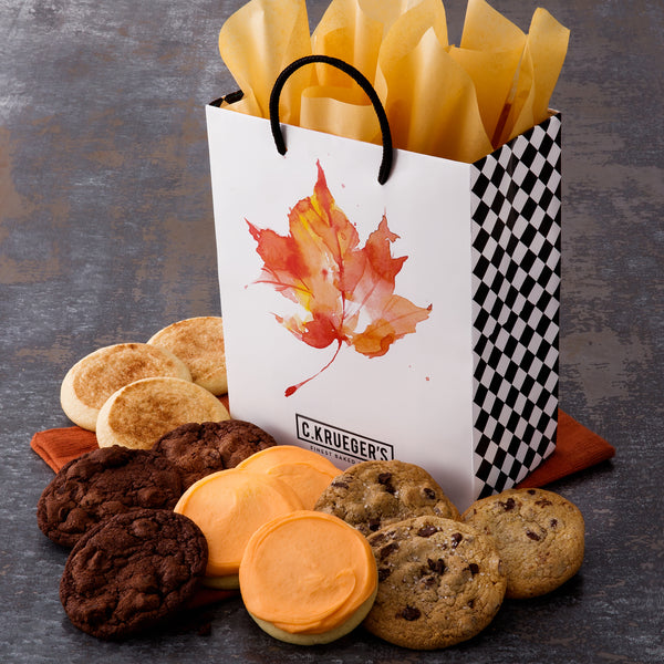 Fall Leaves Gift Bag - Select Your Cookies