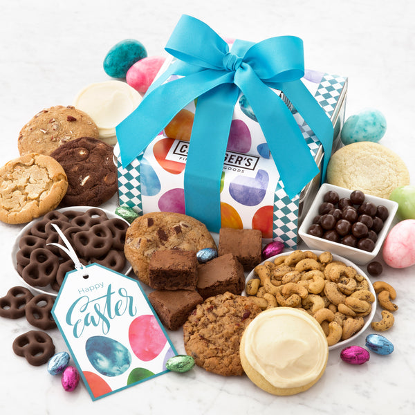 Happy Easter Gift Stack - Cookies & Snacks